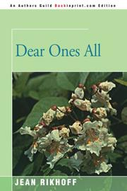 DEAR ONES ALL by Jean Rikhoff