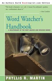 WORD WATCHER'S HANDBOOK by Phyllis Martin