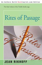 RITES OF PASSAGE by Jean Rikhoff