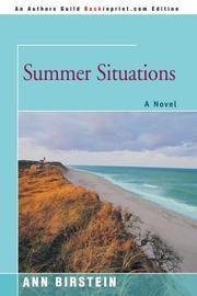 SUMMER SITUATIONS by Ann Birstein