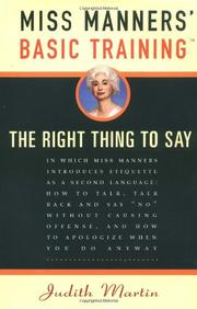 Cover art for MISS MANNERS' BASIC TRAINING