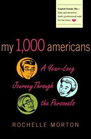 MY 1,000 AMERICANS by Rochelle Morton