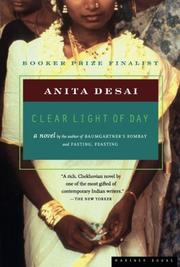 CLEAR LIGHT OF DAY by Anita Desai