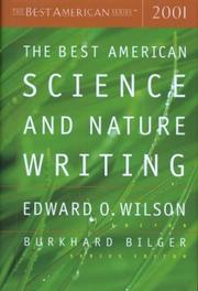 Cover art for THE BEST AMERICAN SCIENCE AND NATURE WRITING 2001