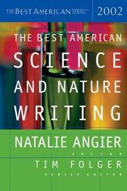 Cover art for THE BEST AMERICAN SCIENCE AND NATURE WRITING 2002