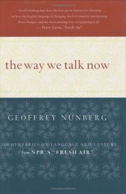 Book Cover for THE WAY WE TALK NOW