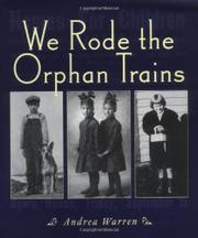 Book Cover for WE RODE THE ORPHAN TRAINS
