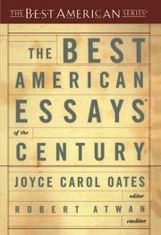 Book Cover for THE BEST AMERICAN ESSAYS OF THE CENTURY