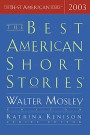 THE BEST AMERICAN SHORT STORIES 2003 by Walter Mosley