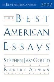 Cover art for THE BEST AMERICAN ESSAYS 2002