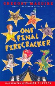 Cover art for ONE FINAL FIRECRACKER