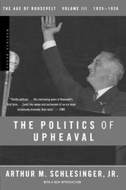 THE POLITICS OF UPHEAVAL by Arthur M. Schlesinger