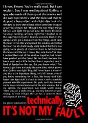 Book Cover for TECHNICALLY, IT'S NOT MY FAULT