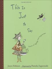 Book Cover for THIS IS JUST TO SAY