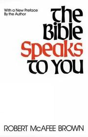 THE BIBLE SPEAKS TO YOU by Robert McAfes Brown