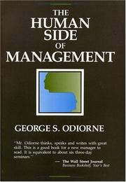 THE HUMAN SIDE OF MANAGEMENT by George S. Odiorne