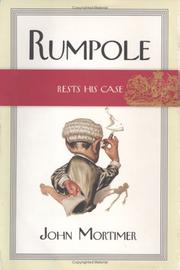 Book Cover for RUMPOLE RESTS HIS CASE