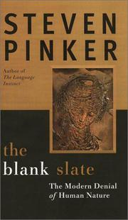 THE BLANK SLATE by Steven Pinker