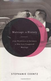 Cover art for MARRIAGE, A HISTORY