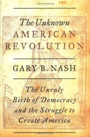 Cover art for THE UNKNOWN AMERICAN REVOLUTION