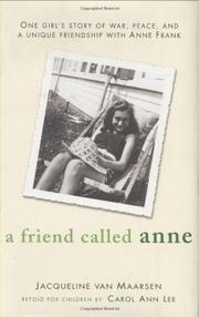 Cover art for A FRIEND CALLED ANNE