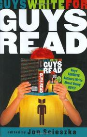 Cover art for GUYS WRITE FOR GUYS READ