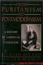 Cover art for FROM PURITANISM TO POSTMODERNISM