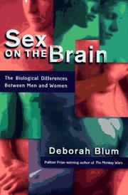 Book Cover for SEX ON THE BRAIN