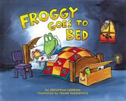 Book Cover for FROGGY GOES TO BED