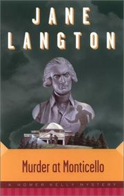 MURDER AT MONTICELLO by Jane Langton