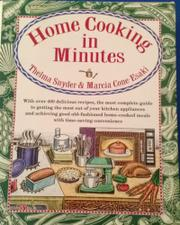 HOME COOKING IN MINUTES by Thelma Snyder