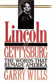 Book Cover for LINCOLN AT GETTYSBURG