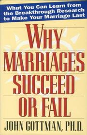 Cover art for WHY MARRIAGES SUCCEED OR FAIL