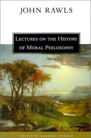 Book Cover for LECTURES ON THE HISTORY OF MORAL PHILOSOPHY