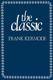 THE CLASSIC by Frank Kermode