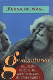 GOOD NATURED by Frans de Waal
