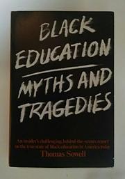 BLACK EDUCATION by Thomas Sowell