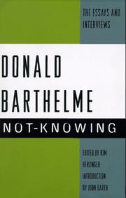 NOT-KNOWING by Donald Barthelme