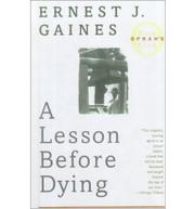 Cover art for A LESSON BEFORE DYING