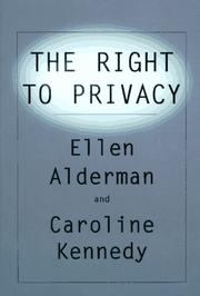 Cover art for THE RIGHT TO PRIVACY