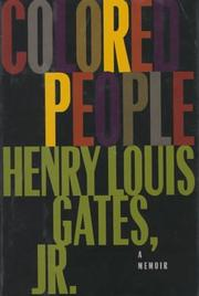 COLORED PEOPLE by Henry Louis Gates
