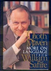 QUOTH THE MAVEN by William Safire