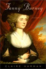 FANNY BURNEY by Claire Harman