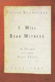 Book Cover for I WILL BEAR WITNESS