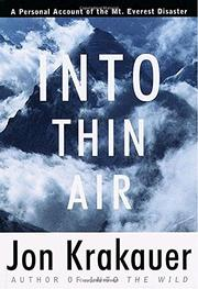 Cover art for INTO THIN AIR