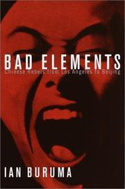 BAD ELEMENTS by Ian Buruma