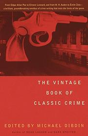 Cover art for THE VINTAGE BOOK OF CLASSIC CRIME