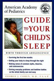 AMERICAN ACADEMY OF PEDIATRICS GUIDE TO YOUR CHILD'S SLEEP by George J. Cohen
