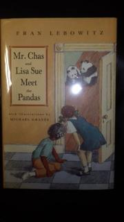 Book Cover for MR. CHAS AND LISA SUE MEET THE PANDAS