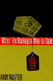 Cover art for WHEN THE PENTAGON WAS FOR SALE